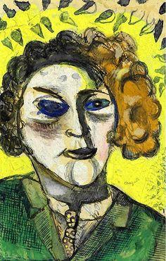 """dappledwithshadow: """"Self-Portrait, Marc Chagall, s.d. """""""