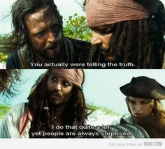 I love quoting jack sparrow...  ^there should be a captain in there somewhere  - Click image to find more Humor Pinterest pins