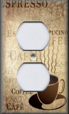 Light Switch Plate Cover - Kitchen Decor - Cafe Fresh Coffee