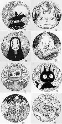 Dessins de Studio Ghibli par ( Brady) - Studio Ghibli drawings by. - Dessins de Studio Ghibli par ( Brady) – Studio Ghibli drawings by ( Brady) D - Art Studio Ghibli, Studio Ghibli Tattoo, Studio Ghibli Movies, Studio Ghibli Characters, Tattoo Studio, Tattoo Drawings, Art Drawings, Tattoo Sketches, Art Tattoos