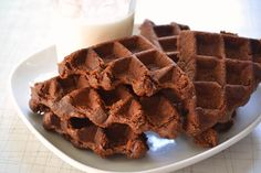 Chocolate waffle brownies via Babble.com
