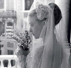 Grace Kelly the bride, 1956