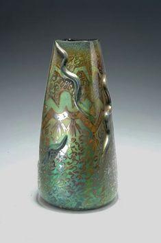 Clement Massier iridescent glazed vase
