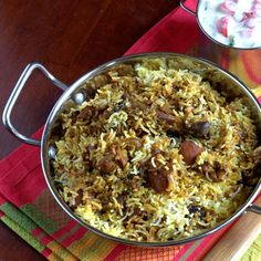 Hyderabadi Biryani Recipe | http://recipes-indianfood.blogspot.com/2009/04/chicken-dum-biryani-recipes-murg.html#.UHG0No6VEoQ