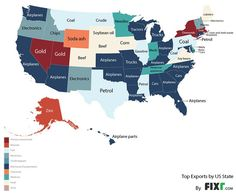 The most valuable products each state sells to the rest of the world - MarketWatch