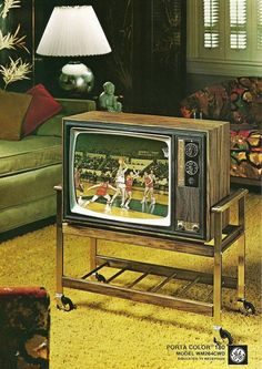 "1970 General Electric 19"" Portable Color Television:"