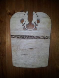 Hand carved small viking chopping board