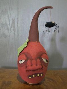 Primitive Jack-o-Lantern Halloween pumpkin JOL by bayrayschild