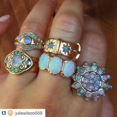 #Repost @juliewilson559 with @repostapp.  I love these opal rings by @arikkastan perfect for October babies! Get to know Tamar Kelman in the Q&A on the blog today link in profile #arikkastan #arikkastanjewelry #jewels #jewelry #jewellery #jewelryblog #jewelrylover #julersrow #opals #showmeyourrings #victorianera #julersrow #blogpost