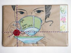 Because tea and snail mail are the perfect friends