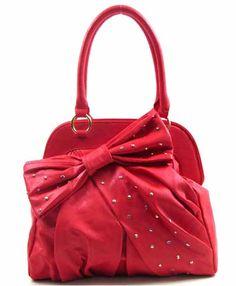 Domino Dollhouse - Plus Size Clothing: Studded Bow Handbag