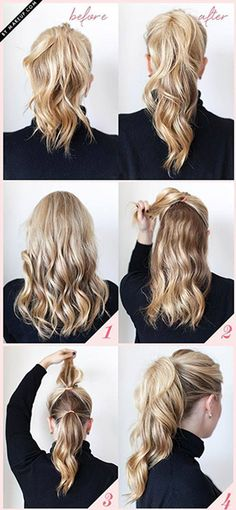 how to do a Lengthened Ponytail  summer hair styles