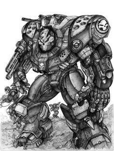 RIFTS Hellbuster by ChuckWalton.deviantart.com on @DeviantArt