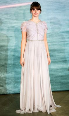 Felicity Jones in a lilac Giambattista Valli dress