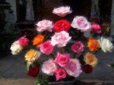 Utoyo Suharto, Roses, oil on canvas, 62x70 cm., 2014.
