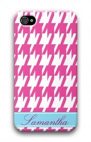 Houndstooth Hot Pink mycustomcase.com