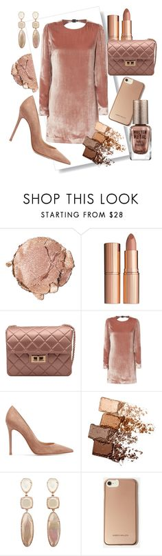 """..."" by kathyos ❤ liked on Polyvore featuring Stila, Charlotte Tilbury, Fleur du Mal, Gianvito Rossi, Maybelline, Karen Millen and Barry M"