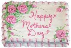 Mother's Day cake Cake Icing, Cupcake Cakes, Cupcakes, Basket Weave Cake, Buttercream Roses, Fathers Day Cake, Gifts Delivered, Rose Cake, Bakery Cakes