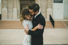 Style Me Pretty: Megan and Brent #couple #love #wedding