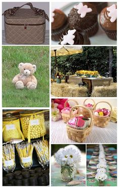 Teddy bear picnic yellow gingham
