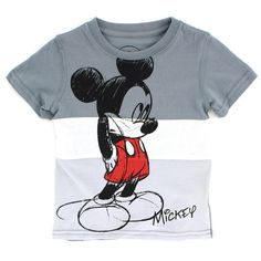 Mickey Mouse Toddler Baby Boys Short Sleeve Tee 2T 3T 4T  #Disney #Everyday