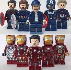 Spiderman Mini Figure Marvel Avengers Spider-man Captain America Shield UKSeller