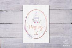 Glückwunschkarte zum Geburtstag Cover, Happy, Design, Home Decor, Cards, Decoration Home, Room Decor, Ser Feliz