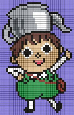 Greg From Over The Garden Wall (Square) Perler Bead Pattern / Bead Sprite