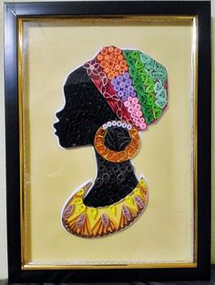 40 Decorative And Brilliant Button Art And Craft Ideas Arte Quilling, Quilling Paper Craft, Quilling Patterns, Quilling Designs, Button Art, Button Crafts, Art Mural Africain, Afrique Art, African Art Paintings