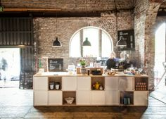 Sis Deli+Cafe, Helsinki.  I'm in love with this pop up cafe and it's trendy rustic/industrial vibe.