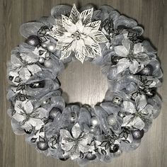 Gift Ideas Home Decor Series Item #HD100 Christmas Wreaths For Front Door, Poinsettia, Deco Mesh, Home Decor Items, Burlap Wreath, Gift Ideas, Holiday Decor, Floral, Gifts