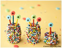 Family of SPRINKLY ROLO CHOCOLATE MONSTERS!  #Halloween #chocolate #rolo #sprinkles