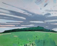 Evening Formation Original Landscape Painting on Paper by Paintbox, $75.00