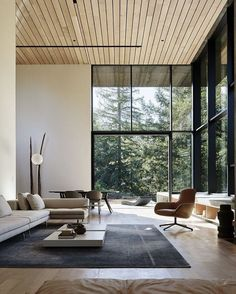 Nature Drove The Design Of This Sculptural, Cor Ten Steel House In Northern  California   Photo 4 Of 13   The Living Room Features A Sectional Sofa And  ...