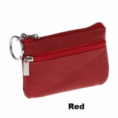 Unisex Durable Leather Zipper Coin Purse Mini Wallet Key Pouch - FREE SHIPPING!!!