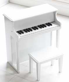 White Wooden Musical Toy Piano
