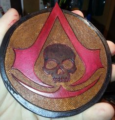 Assassin's Creed Black Flag leather patch by WJWDesign on Etsy