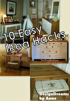 DesignDreams by Anne: Ten Easy Ikea Hacks - Before  After