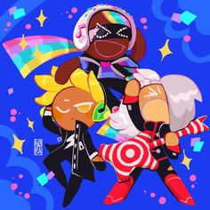 Cookie Run by 🎄 - comms open🐰🌸 ( Cotton Candy Cookies, Cartoon Cookie, Cookie Run, 2nd Anniversary, Funky Art, Cute Cookies, You Draw, Cute Characters, Cookies Et Biscuits