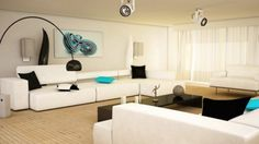 Retro Black And White Aqua Living Room Design Ideas With Wooden Floors And Modern Ceiling Lamps Fascinating Modern Black And White Living Room Design Ideas Black And White Living Room, Black And White Interior, Black White, Interior Design Living Room, Living Room Designs, Interior Decorating, Decorating Ideas, Interior Designing, Interior Ideas