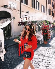 ideas for travel outfit italy summer fashion Trendy Outfits, Summer Outfits, Summer Dresses, Dresses Dresses, Travel Outfit Spring, Summer Travel, Easy Style, Mode Ootd, Italy Summer