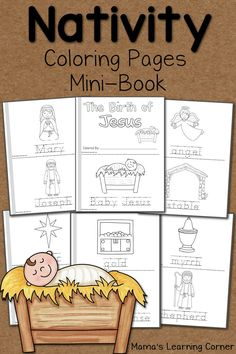 Download a 14-page free set of Nativity Coloring Pages! Includes a cover page and an 'I can read' page for your young learner!