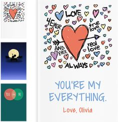 LoveBook™ is the most Unique Personalized Gifts you could ever give. Use our LoveBook™ Creator to build your book of reasons why you love someone!