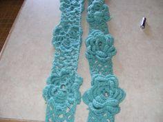 Maries Cozy Corner: Crochet Flower Scarf Pattern - designed by Marie