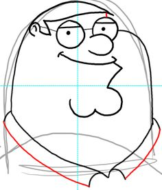 How to Draw Peter Griffin from Family Guy : Step by Step Drawing Lesson