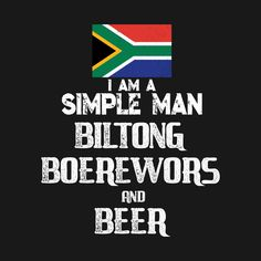 Check out this awesome 'South+African+Biltong+Boerewors+and+Beer+Funny+Tshirt' design on @TeePublic! #south africa