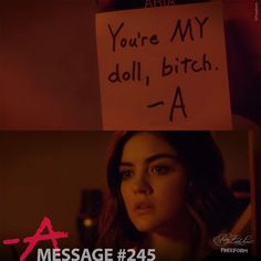 """88k Likes, 121 Comments - Pretty Little Liars (@prettylittleliars) on Instagram: """"Message #245 from A (with a haircolor applicator bottle with pink color that Aria had to use in the…"""""""