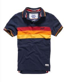 wave navy mix Superdry Super Sunrise Polo