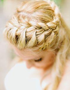 Bride with a Beautiful Braid | Intimate Italian Castle Wedding | Facibeni Fotografia | Bridal Musings Wedding Blog