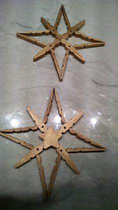Handmade Christmas Crafts, Christmas Ornament Crafts, Diy Christmas, Ornament Box, Diy Ornaments, Christmas Trees, Holiday Crafts, Christmas Decorations, Clothespin Cross
